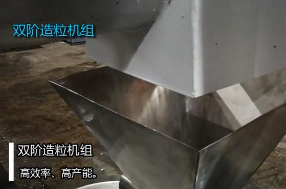 Double stage granulator video display