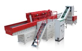 Horizontal sheet shredder unit